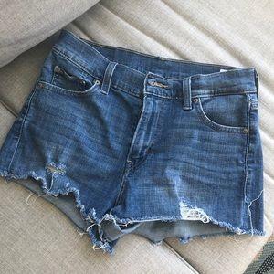 LEVIS high rise jean shorts